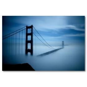 Αφίσα (γέφυρα, ουρανός, σύννεφα)